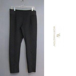 Worthington Black Scuba Leggings Size L